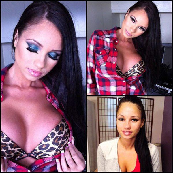 Raven Bay atriz pornô sem maquiagem