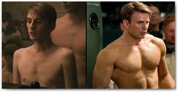 Capitão América: antes e depois