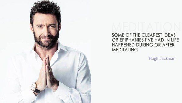 hugh jackman e a meditação