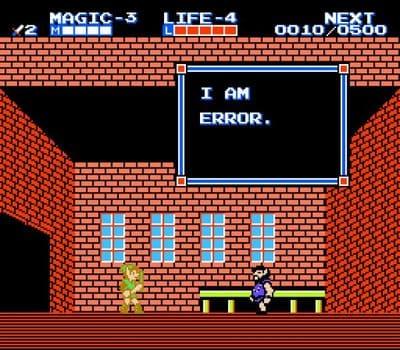 imagem de jogo dando erro