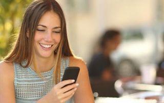 mulher linda mensagem de texto